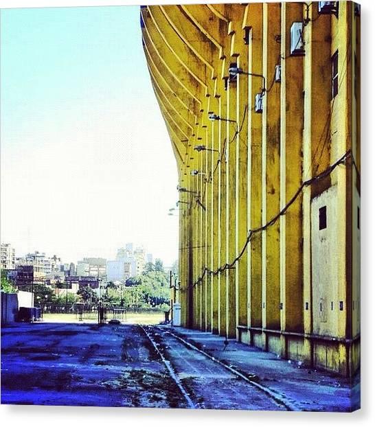 Stadiums Canvas Print - #vía #férrea. #estadio La #bombonera by José Manosalva