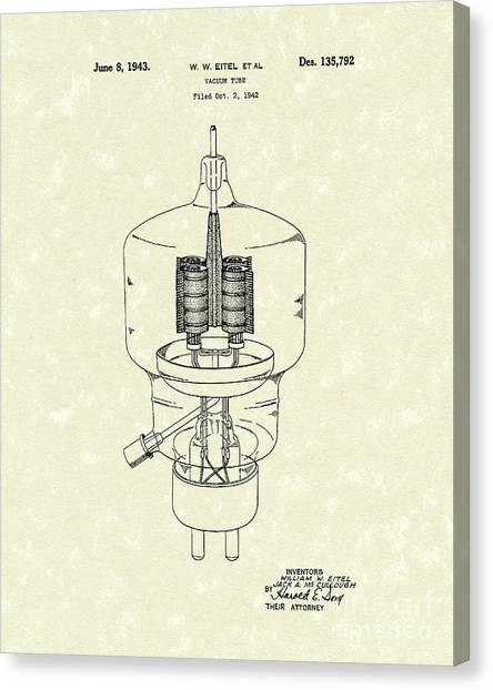 Ham Canvas Print - Vacuum Tube 1943 Patent Art by Prior Art Design