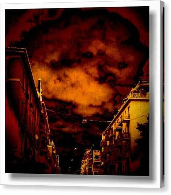 Horror Canvas Print - Vado A Fare Un Giro by Fausto Luigi Cima