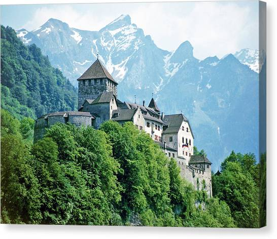 Vaduz Castle Lichtenstein Canvas Print
