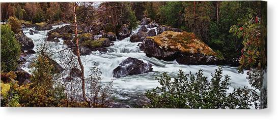 Valdolla River Canvas Print by A A