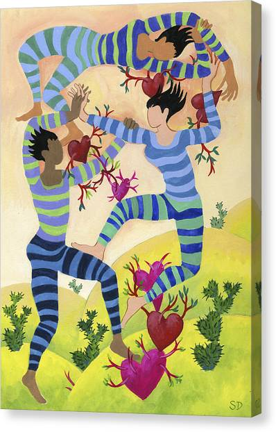 Valentine Dancers Canvas Print