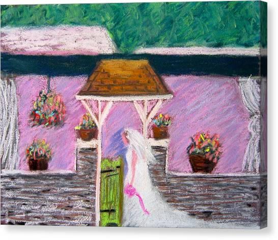Valley Green Bride Canvas Print by Marita McVeigh