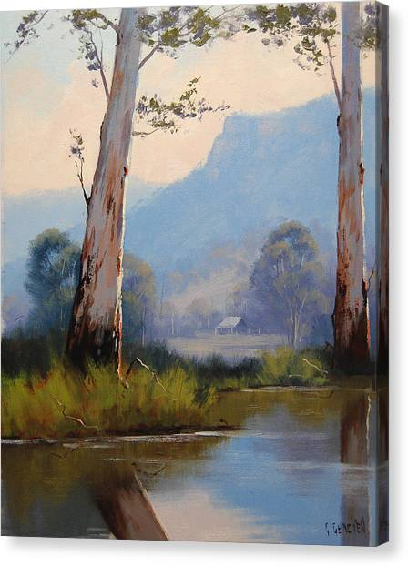 Gum Trees Canvas Print - Valley Gums by Graham Gercken