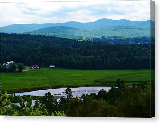 Valley Maine Canvas Print by Josee Dube