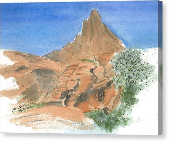 Valley Of Fire - Sketch II Canvas Print