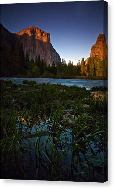 El Capitan Canvas Print - Valley View At Sunset by Rick Berk