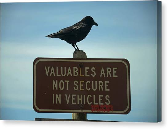 Valuables Are Not Secure Canvas Print