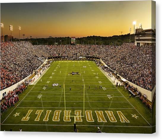 Sec Canvas Print - Vanderbilt Endzone View Of Vanderbilt Stadium by Vanderbilt University
