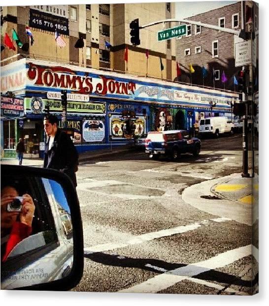 Stoplights Canvas Print - #vanness #street #stoplight by J Lopez