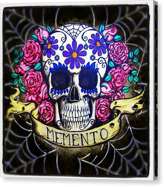 Skulls Canvas Print - Variations On A Theme by Shayne  Bohner