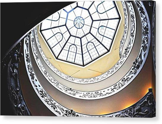 Vatican Staircase Canvas Print by Heather Marshall