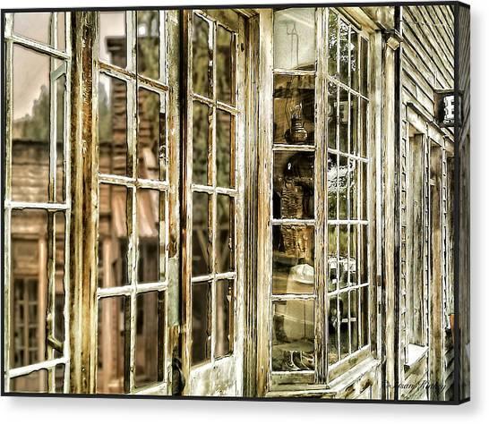 Vc Window Reflection Canvas Print