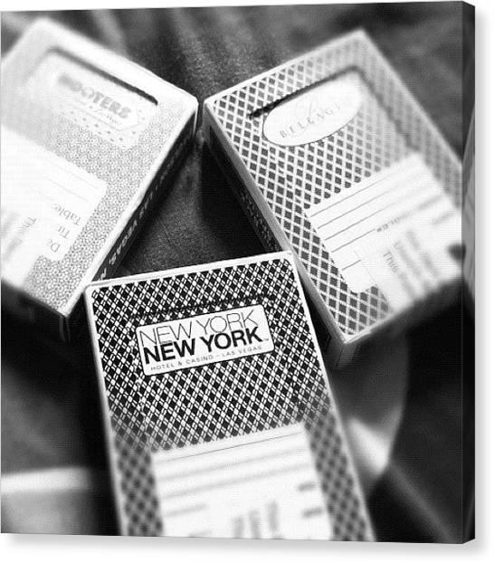 Magicians Canvas Print - Vegas Playing Cards by Matt Goodall