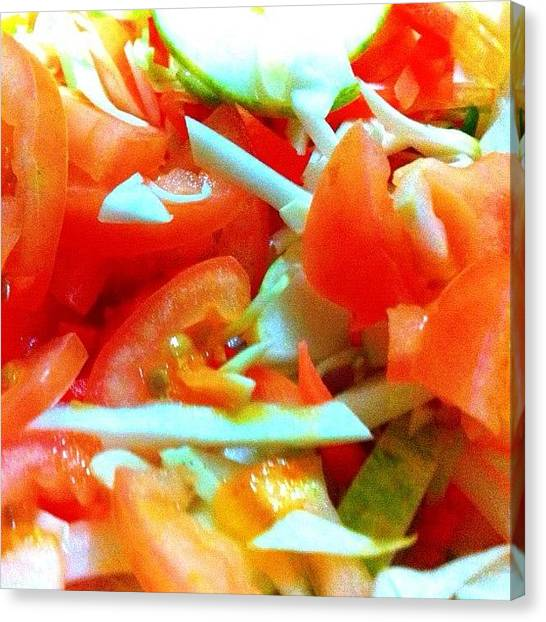 Salad Canvas Print - Vegetable Salad #lovefoodhatewaste by Abid Saeed