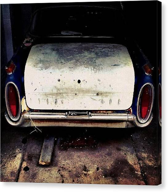 Repairs Canvas Print - Vehicles - Classic Car Being Fixed #car by Invisible Man