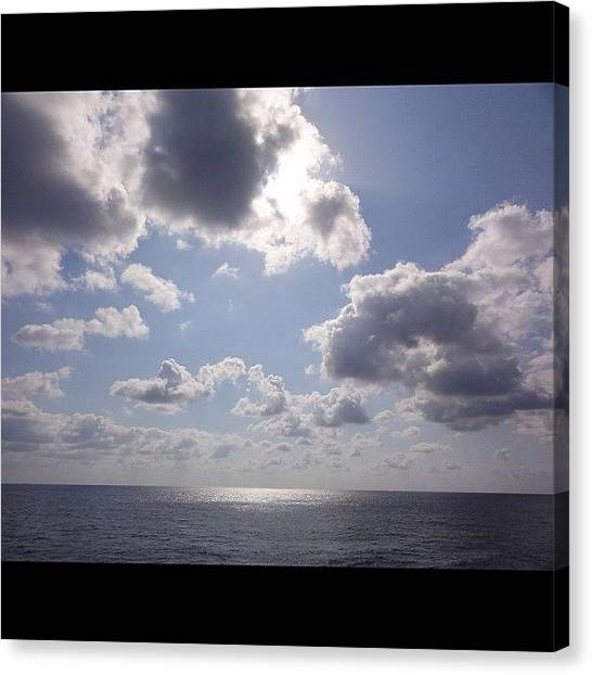 Bahamas Canvas Print - Veiw From Our Balcony On Our Cruise:) by Anthony Sclafani