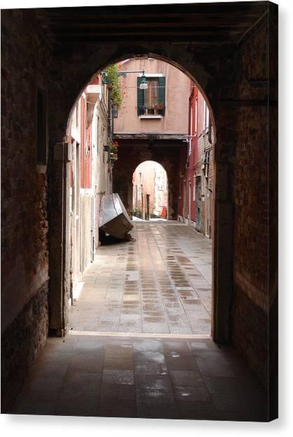 Venetian Alleyway Canvas Print