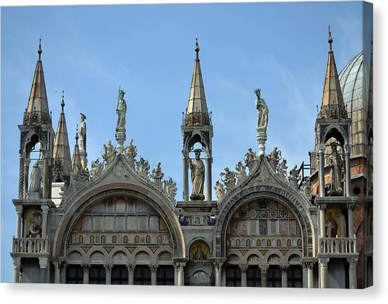 Venetian Architecture. Canvas Print by Terence Davis