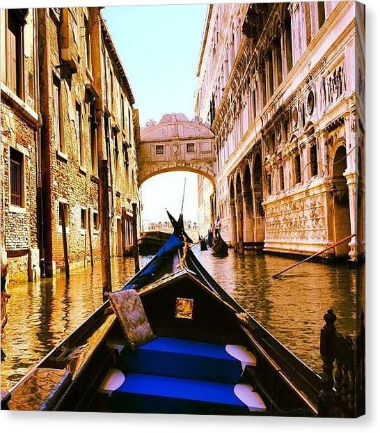 Gothic Art Canvas Print - Venetian Gondola by Jaimini Chohan