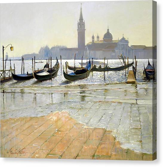 Flooding Canvas Print - Venice At Dawn by Timothy Easton