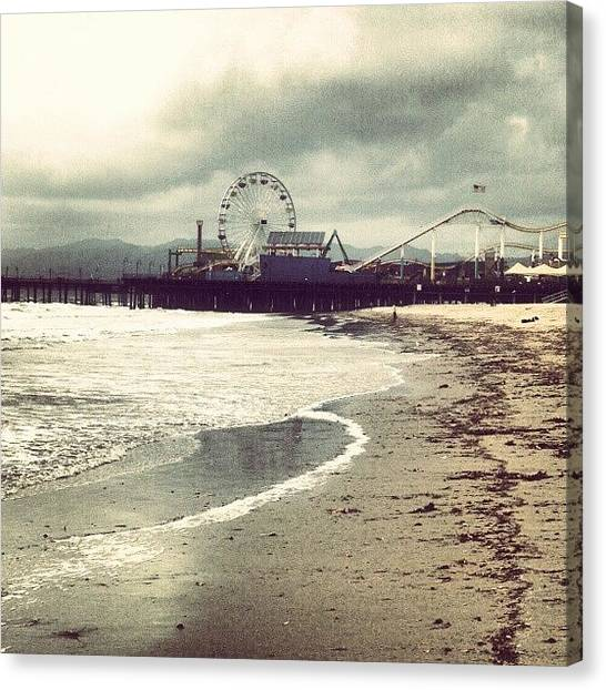 Santa Monica Pier Canvas Print - Venice Beach by Lisa Lamphere