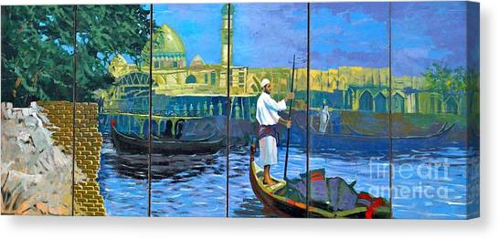 Venice Of The Middle East Canvas Print by Unknown - Local Iraqi National
