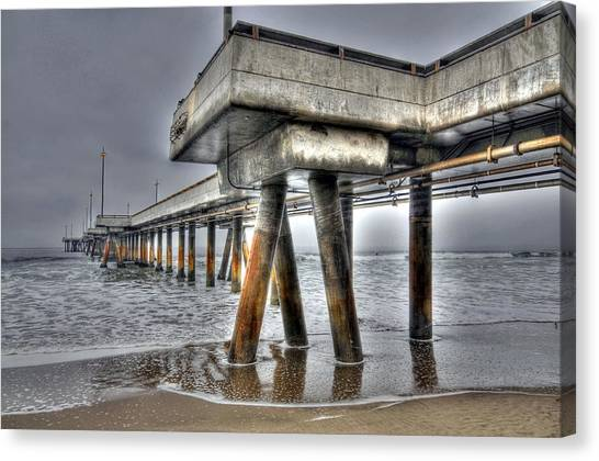 Venice Pier Industrial 2 Canvas Print
