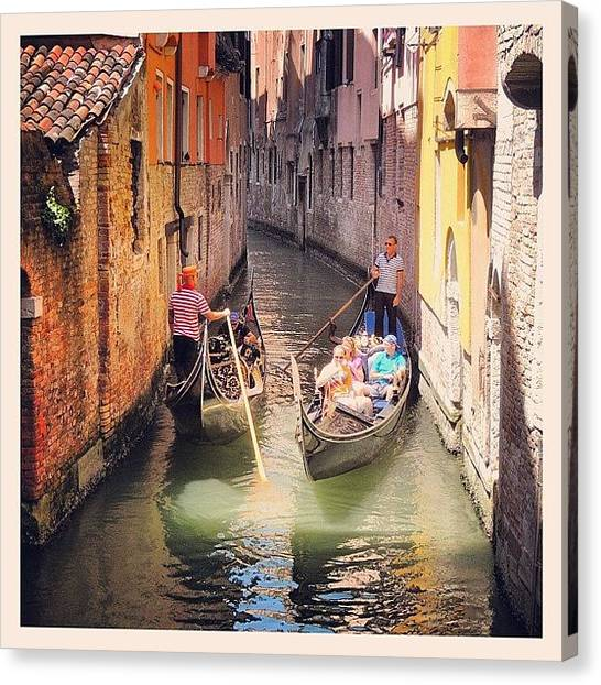 Still Life Canvas Print - Venice Traffic Jam by Chi ha paura del buio NextSolarStorm Project