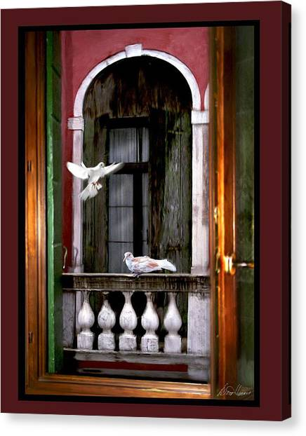 Venice Window Canvas Print
