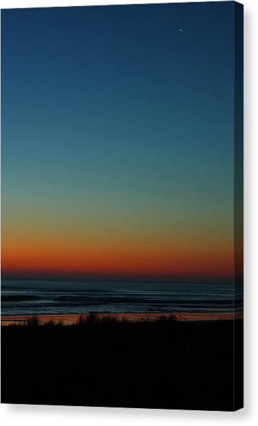 Venus And Atlantic Before Sunrise Canvas Print