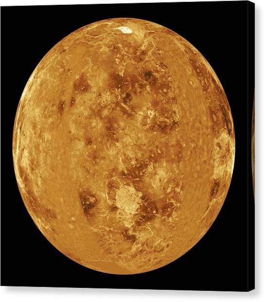 Venus, Radar Map Canvas Print by Jplnasa