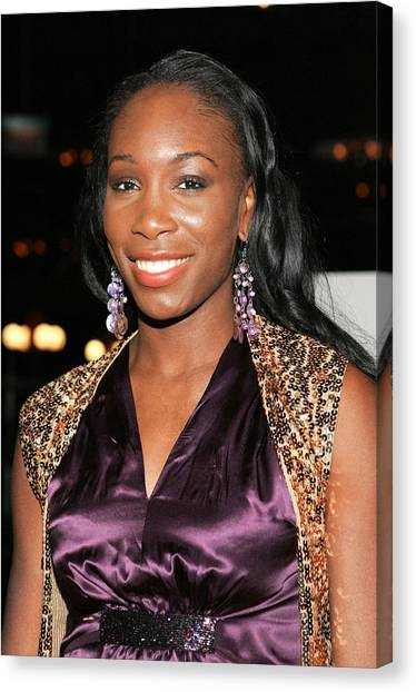Venus Williams Canvas Print - Venus Williams At Arrivals For Hitch by Everett
