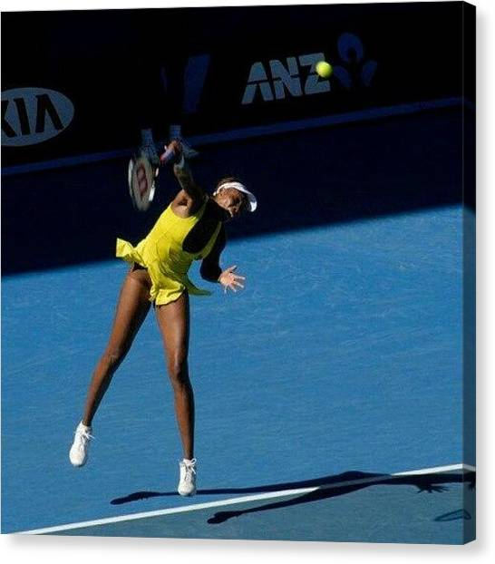 Venus Canvas Print - Venus Williams#venus#tennis#williams by Brendan O Keeffe