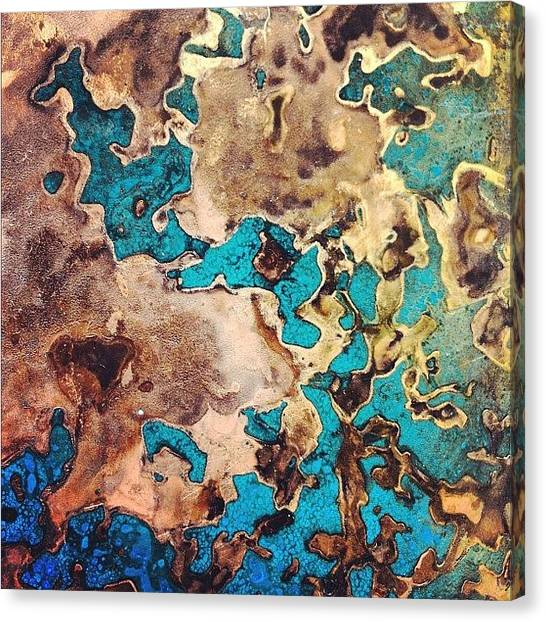 Metal Canvas Print - Verdigris Texture by Nic Squirrell