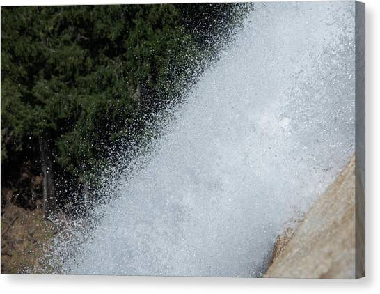 Vernal Falls On The Mist Trail At Yosemite Np Canvas Print