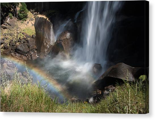 Vernal Falls Rainbow On Mist Trail Yosemite Np Canvas Print
