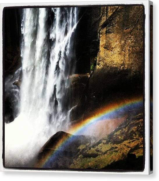 Waterfalls Canvas Print - Vernal Falls, Yosemite #yosemite by Last Adventurer