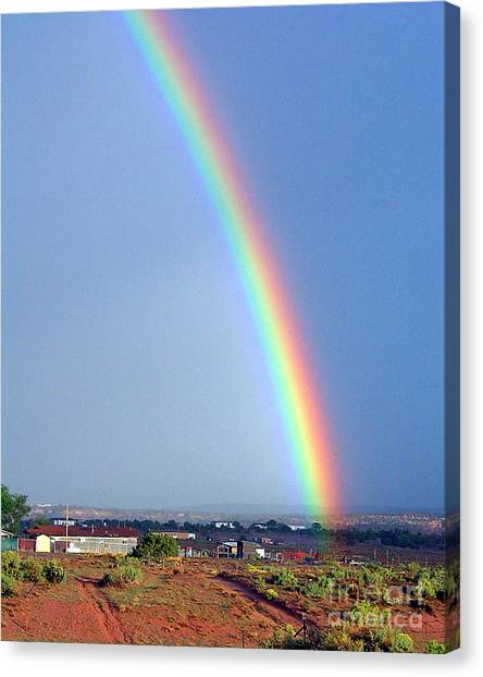 Very Bright Arizona Rainbow Canvas Print by Merton Allen