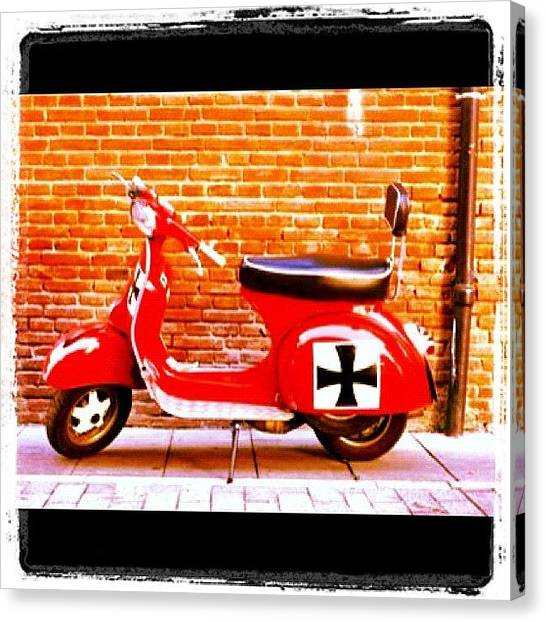Red Cross Canvas Print - Vespa by Giuseppe Anello