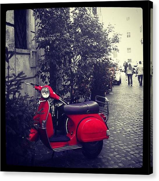 Soccer Leagues Canvas Print - Vespa by Marce HH