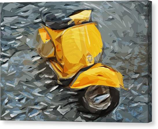 Scoot Canvas Print - Vespa by Tilly Williams