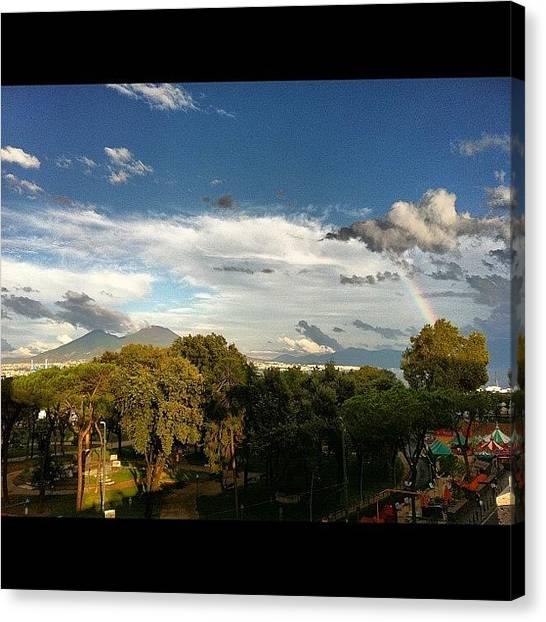 Volcanoes Canvas Print - #vesuvio #vesuvius #volcano #arcobaleno by Francesca Ferrara