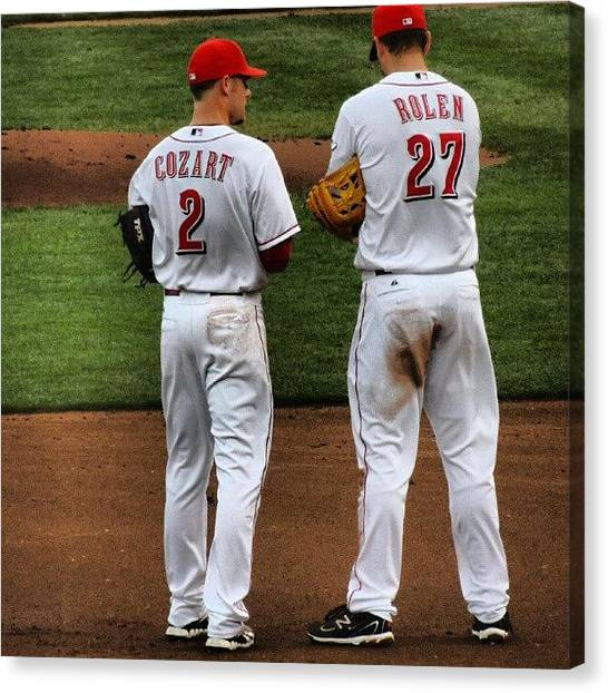 Baseball Teams Canvas Print - Vet Teaching The Rook  by Reds Pics