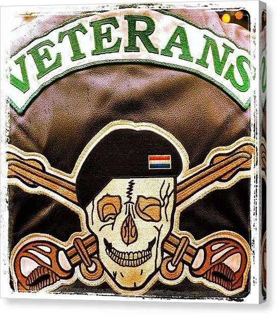 Biker Canvas Print - #veteransmcholland #veteransmc by 🅿💀r1⃣©⚠◀ Qu1⃣5⃣p3⃣l