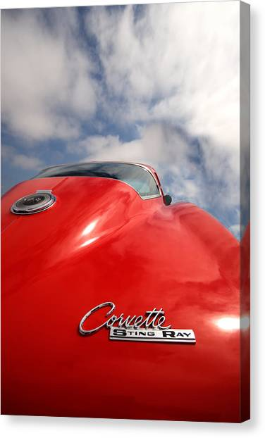 Vette Window Canvas Print by Peter Tellone