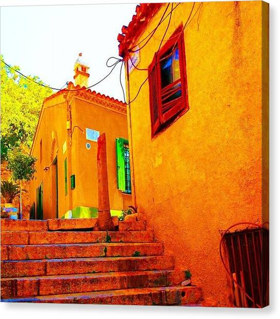 Athens Canvas Print - Vibrant Colors. #color #old #house by Dimitre Mihaylov