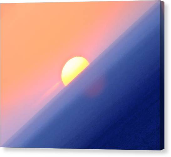 Vibrant Sun Canvas Print