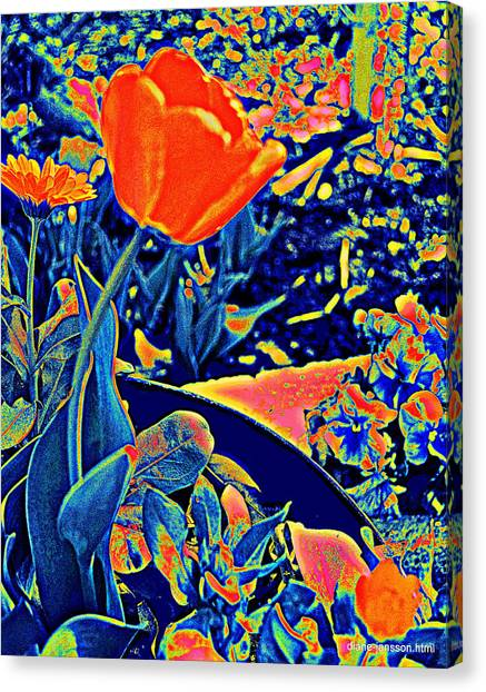 Vibrating Spring Canvas Print