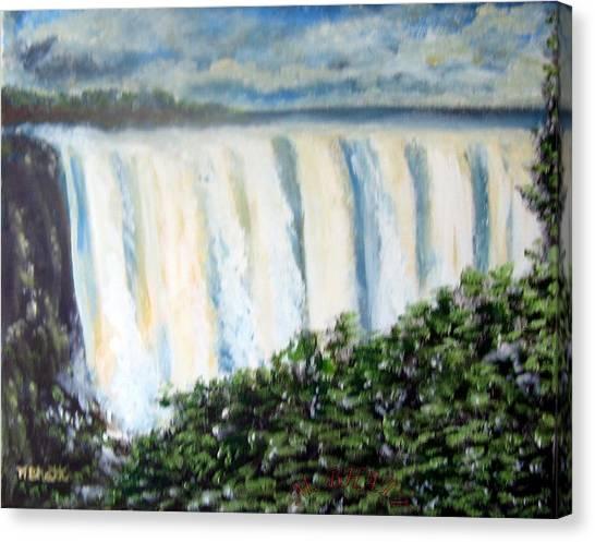 Victoria Falls Canvas Print by M Bhatt
